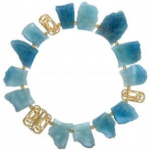 Aquamarine Seascape Necklace